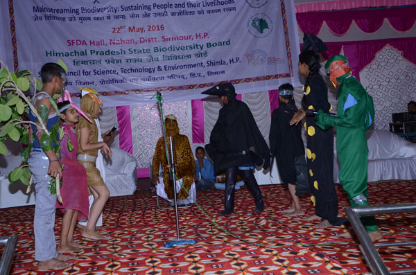 Skit play by students during State Level International Biodiversity Day-2016