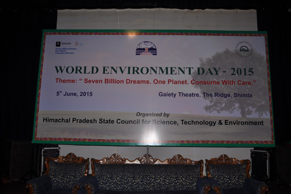 World Environment Day-2015 at Gaiety Theatre, The Mall Shimla