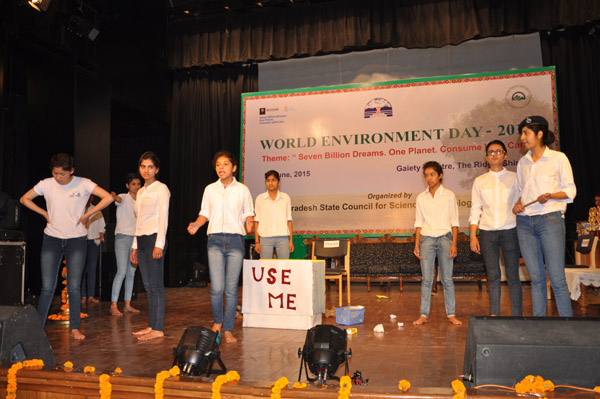 Skit Play on Environment by School Students
